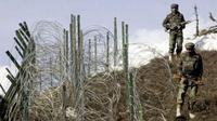 Perbatasan de facto antara India dengan Pakistan. (AFP)