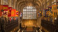 Lokasi pernikahan Pangeran Harry dan Meghan Markle di Kapel St George, Kastil Windsor, London, Inggris, Minggu (11/2). Kapel di pekarangan Istana Windsor ini kerap dipakai lokasi pernikahan anggota keluarga kerajaan. (AFP PHOTO/POOL/Dominic Lipinski)