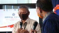 Dirjen Pencegahan dan Pengendalian Penyakit Kementerian Kesehatan, dr Achmad Yurianto konferensi pers soal isolasi mandiri di Graha BNPB, Jakarta, Senin (6/4/2020). (Dok Badan Nasional Penanggulangan Bencana/BNPB)