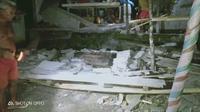 Kerusakan yang ditimbukan akibat gempa yang mengguncang Kabupaten Kepulauan Talaud, Kamis malam.
