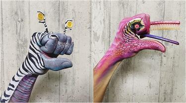 Pria Ini Lukis Tangannya Bak Monster Hasilnya Menakjubkan. (Sumber: Instagram/amazing_jiro)
