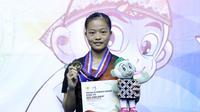 Pemain pelatnas PBSI, Fitriani, sukses meraih medali emas di cabang bulutangkis nomor tunggal putri PON Jabar 2016. (Humas PBSI)