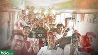 Trivia_Suporter Timnas Indonesia_3 (Bola.com/Adreanus Titus)