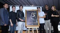 Al Ghazali saat hadir dalam acara peluncuran teaser dan poster film 13 The Haunted di kawasan Sarinah, Thamrin, Jakarta Pusat, Jumat (27/4/2018). (Nurwahyunan/Bintang.com)