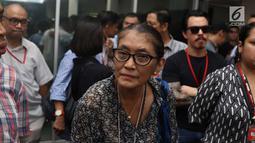 Aktris Jajang C. Noer saat menghadiri sidang kasus narkoba Tio Pakusadewo di PN Jakarta Selatan, Kamis (7/6). Sidang beragendakan pledoi. Sidang yang beragendakan pledoi atau pembacaan pembelaan dari Tio Pakusadewo. (Liputan6.com/Immanuel Antonius)