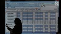 Layar monitor menampilkan angka Rekapitulasi Hasil Penghitungan Perolehan Suara Tingkat Nasional dan Penetapan Hasil Pemilihan Umum Tahun 2019, Jakarta, Rabu (75/2019). Rapat membahas dan menetapkan hasil perolehan suara dari PPLN. (Liputan6.com/Helmi Fithriansyah)