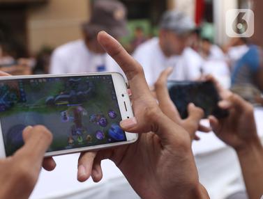 Pertandingan eSports Mobile Legends di IBEC 2019