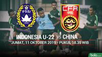 CFA - Indonesia U-22 Vs China (Bola.com/Adreanus Titus)