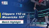 Berita Video Highlights NBA 2019-2020, LA Clippers Vs Dallas Mavericks 110-107