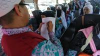 Jemaah haji kloter Balikpapan (BPN) 15 menjadi yang terakhir berangkat dari Makkah menuju Madinah. Bahauddin/MCH