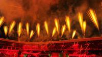 Suasana penutupan PON XX Papua di Stadion Lukas Enembe, Jayapura, Jumat (15/10/2021). (PB PON XX Papua/Mahasen Wanda)