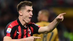 2. Krzysztof Piatek (AC Milan) - 22 Gol (2 Penalti). (AFP/Miguel Medina)