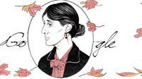 Virginia Woolf, novelis asal Inggris yang dijadikan Google Doodle pada Kamis (25/1/2018). Foto: Google