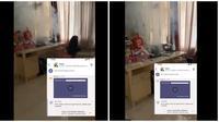 Viral Laptop Meledak. (Sumber: Twitter/ @lagikecewabgt)