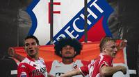Dries Mertens, Bagus Kahfi dan Dirk Kuyt. (Bola.com/Dody Iryawan)