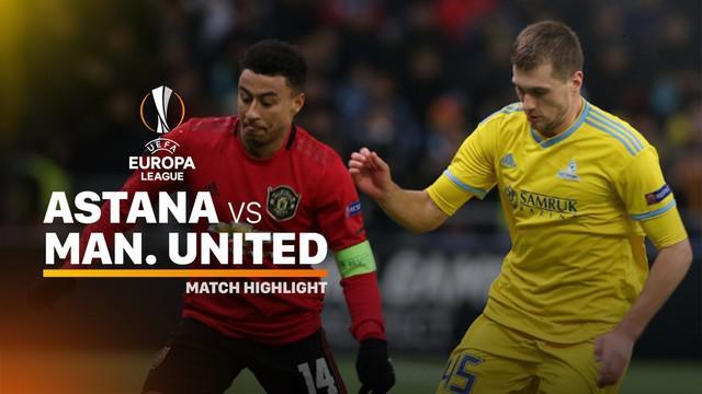Berita video highlights matchday 5 Grup L Liga Europa 2019-2020 antara Astana melawan Manchester United yang berakhir dengan skor 2-1, Kamis (28/11/2019).