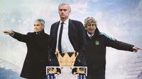 Premier League - Claudio Ranieri, Jose Mourinho, Manuel Pellegrini (Bola.com/Adreanus Titus)