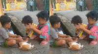 Kelakuan bocah saat main bareng (Sumber: Twitter/kidsdoingshit)