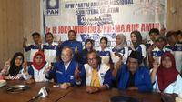 25 kader DPW PAN Sumsel secara terang-terangan mendukung Jokowi-Amin di Pilpres 2019 (Liputan6.com / Nefri Inge)