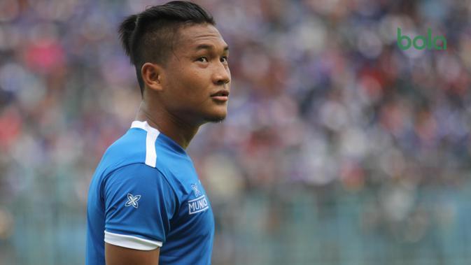 Striker, Arema FC, Ahmad Nur Hardianto. (Bola.com/Iwan Setiawan)