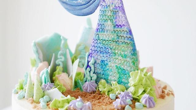Kue Ulang Tahun Bertema Putri Duyung Yang Menggemaskan