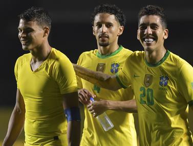 Gol Tunggal Roberto Firmino Bawa Brasil Taklukan Venezuela