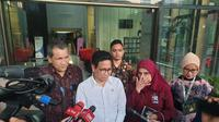 Mendes PDT Abdul Halim Iskandar berkunjung ke KPK, Selasa (3/3/2020). (Liputan6.com/Fachrul Rozie)