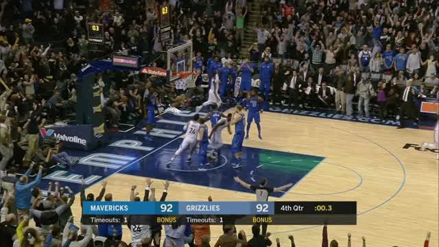 Dallas Mavericks mengalahkan Memphis Grizzlies dengan skor 95-94 dalam lanjutan pertandingan NBA 2017-2018.