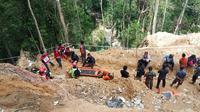 Lokasi longsor tambang emas di Bolaang Mongondow. (Liputan6.com/ Yoseph Ikanubun)