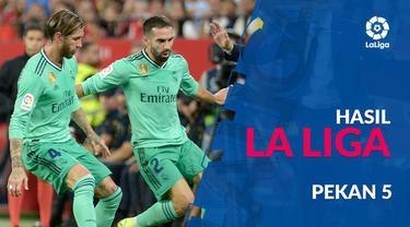Berita video hasil La Liga 2019-2020 pekan ke-5. Barcelona kalah 0-2 dari Granada, Real Madrid curi 3 poin di kandang Sevilla.