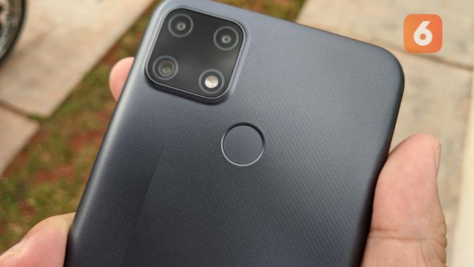 Sensor sidik jari Realme C25. (Liputan6.com/ Yuslianson)