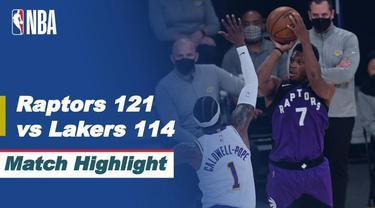 Berita Video Highlights NBA, Toronto Raptors Curi Kemenangan di Kandang LA Lakers 121-114