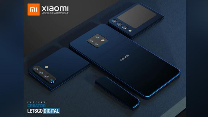 Xiaomi daftarkan paten smartphone modular. (Doc: LetsGoDigital)