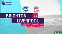 Premier League Brighton and Hove Albion Vs Liverpool (Bola.com/Adreanus Titus)