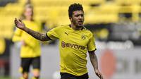 3. Jadon Sancho (Borussia Dortmund) - 14 gol dan 16 assists. (AFP/ Martin Meissne/Pool)