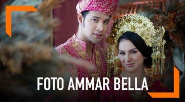 Usai bertunangan, pasangan Ammar Zoni dan Irish Bella melakukan sesi pemotretan bersama. Keduanya menggunakan tema adat Minang.
