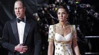 Kate Middleton dan Pangeran William menghadiri acara BAFTA 2020. (dok. JEFF GILBERT/POOL/AFP)