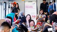 Diskusi kesehatan 'Kenali dan Cegah Kanker Serviks' digelar RS Siloam Sriwiaya Palembang di dalam gerbong LRT Palembang (Dok. Humas RS Siloam Sriwijaya Palembang / Nefri Inge)