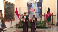 Menteri Luar Negeri RI Retno Marsudi menerima kunjungan dari Menlu Afghanistan H.E Salahudi Rabbani di Jakarta (Liputan6.com/Teddy Tri Setio Berty)