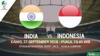 Jadwal Piala AFC U-16, India vs Indonesia. (Bola.com/Dody Iryawan)