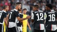 Juventus merayakan gol Cristiano Ronaldo (ISABELLA BONOTTO / AFP)