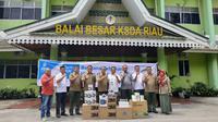 PT Perusahaan Gas Negara Tbk (PGN) menyalurkan bantuan kepada masyarakat korban bencana kabut asap dan kebakaran hutan (Karhutla)