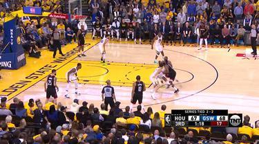 Klay Thompson mencetak 27 poin dan Stephen Curry menambah 25 poin untuk memimpin Golden State meraih kemenangan di game 5 atas Houston.