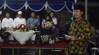 Sekretaris Daerah Kota Bitung DR. Audy Pangemanan AP. M,Si melepas pawai takbiran dalam rangka Idul Adha 1440 H bertempat di depan kantor walikota Bitung. Sabtu, (10/8).
