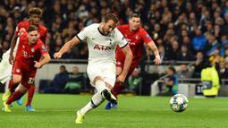 Penyerang berusia 26 tahun ini telah mencatatkan torehan 181 gol dan 30 assist dari 278 penampilannya bersama Tottenham Hotspurs. (AFP/Glyn Kirk)
