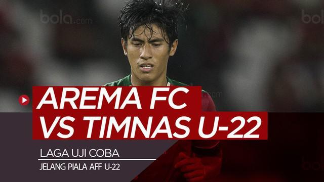 Berita video highlights laga uji coba antara Arema FC melawan Timnas Indonesia U-22 yang berakhir dengan skor imbang 1-1 di Stadion Kanjuruhan, Malang, Minggu (10/2/2019).