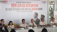 Sejumlah pengusaha yang tergabung dalam Relawan  Pengusaha Pekerja ProJokowi (KerJo) mendeklarasikan dukungan terhadap Jokowi-Ma'ruf Amin. (Istimewa)