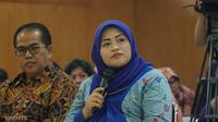 Bekasi nonaktif Neneng Hasanah Yasin mengakukan permohonan kepada majelis hakim terkait status tahanan kota. (Huyogo Simbolon)