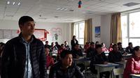 Siswa di Pusat pelatihan vokasional Hotan di Hotan County, Prefektur Hotan, Xinjiang (Rizki Akbar Hasan / Liputan6.com)