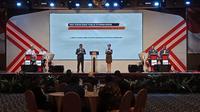 Akhyar-Salman dan Bobby-Aulia dalam debat kandidat putaran kedua Pilkada Medan